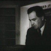 Barankovics István szavaz az 1947-es választásokon