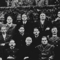A Demokrata Néppárt képviselői az 1947-es választások után. (Középen Barankovics István)